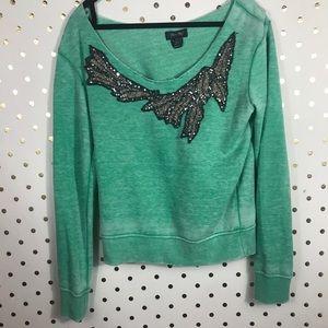 Miss Me Embellished Holiday Sweatshirt